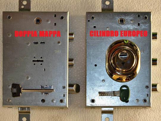 serratura doppia mappa e cilindro europeo differenze